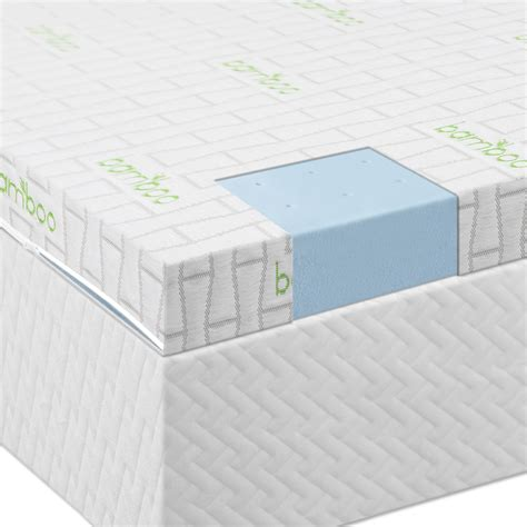 foam bed pad the 2 5 lucid by linenspa memory foam mattress topper review