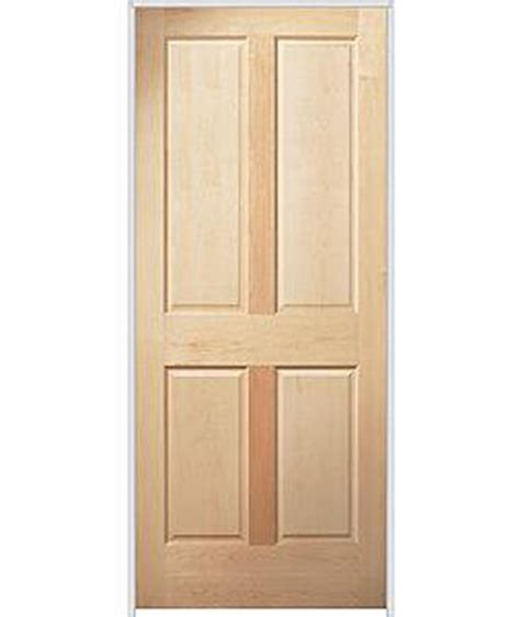 Stain Grade Interior Doors 4 Panel Raised Premium Maple Stain Grade Solid Wooden Interior Wood Doors Ebay