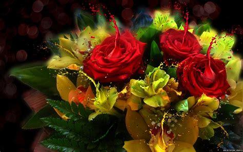 imagenes de flores 3d en uñas fondo de pantalla rosas 3d hd