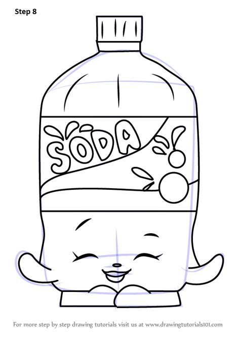 bottle rocket coloring page learn how to draw soda from shopkins shopkins step by