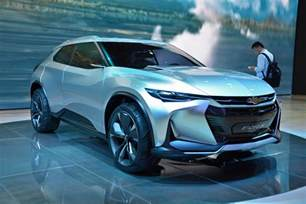 China Electric Car Expo Chevrolet Fnr X In Hybrid Crossover Concept Debuts In