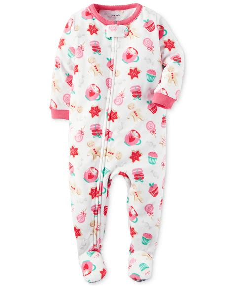 Carters Footed Sleepers by S Baby 1 Footed Fleece Pajamas Pj S Ebay