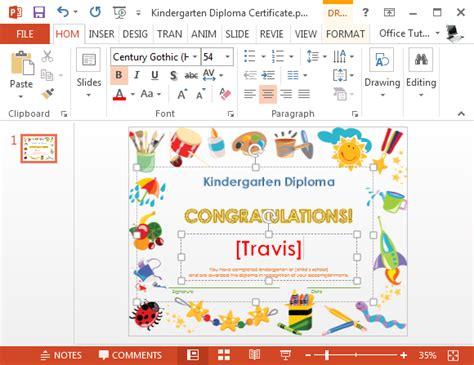 powerpoint design kindergarten printable kindergarten diploma template for powerpoint