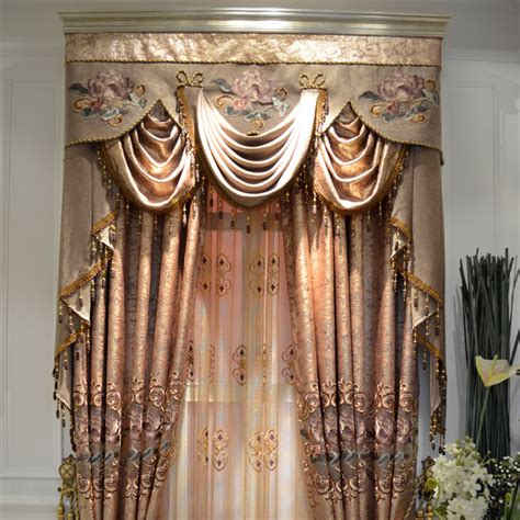 gold lace curtains golden brown coffee color drape drapry luxury classical