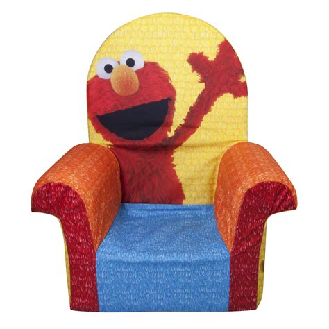 elmo toddler chair marshmallow furniture children s foam high back chair