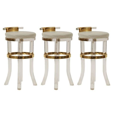 lucite bar stools for sale lucite brass counter stools antiques kelly wearstler