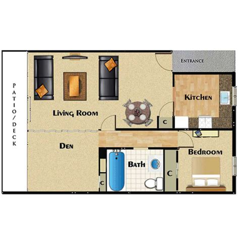 large 1 bedroom apartment floor plans large one bedroom apartment floor plans home