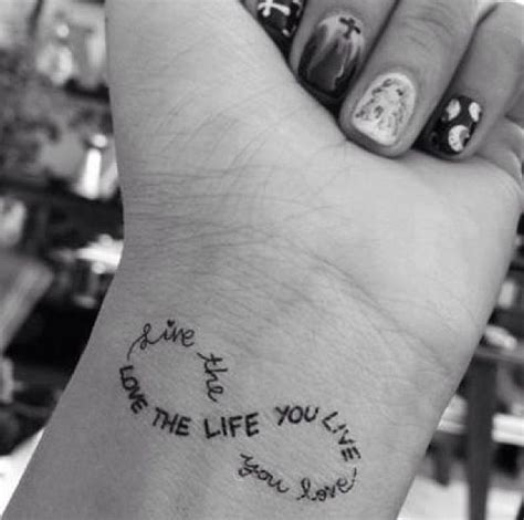 tattoo quotes about enjoying life i love the infinity sign and this quote just makes this