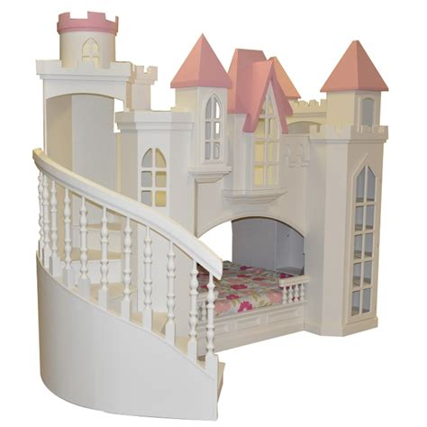 Fordell Castle Bunk Bed With Curved Staircase Bookshelves Castle Bunk Bed