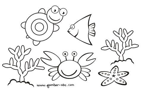 binatang laut lucu belajar mewarnai