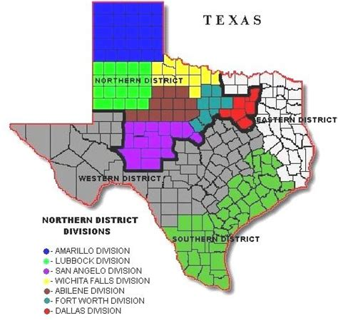 northern district of texas map divisions usao ndtx department of justice