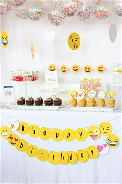 birthday themed emojis printable instagram emoji party collection wants and wishes