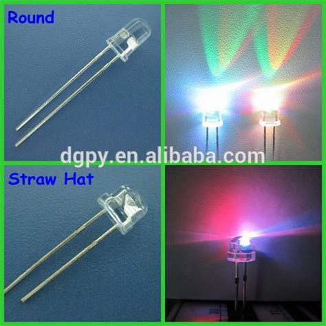 top selling high quality amazing led color changing 2 pin rgb led 7 color diodes variable color led diodes