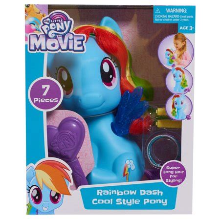 my little pony rainbow dash styling pony walmart.com