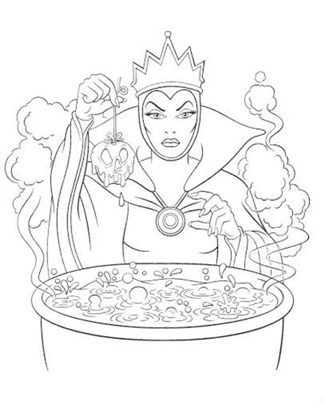 evil queen coloring page disney villains coloring page wicked queen disney