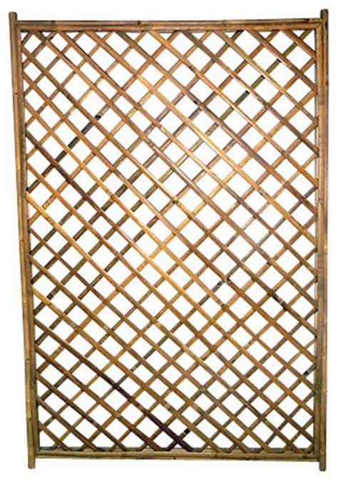 Framed Trellis Panel Framed Bamboo Lattice Panel Opening Pattern