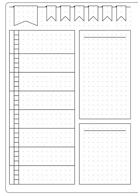 simple weekly layout template kate louise bullet