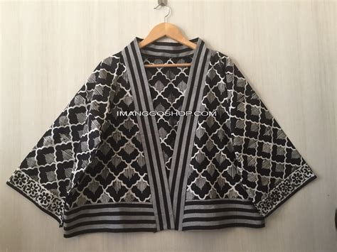Kamen Lurik kimono outer batik mix tenun lurik imanggo ethnic