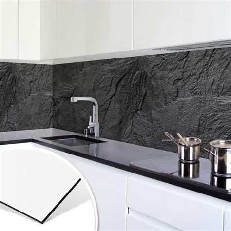 achterwand keuken leisteen keukenachterwand alu dibond zilver leisteen wall art nl