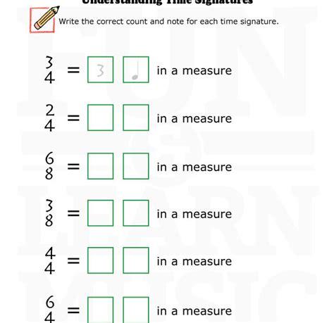 Time Signature Worksheet interpreting quotes worksheets quotesgram