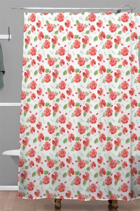 Hawaiian Shower Curtains Hawaiian Hibiscus Woven Shower Curtain Forest