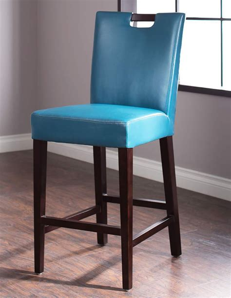 Blue Wooden Bar Stools by Stools Design Glamorous Blue Leather Bar Stools Aqua Bar
