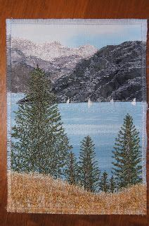 Landscape Fabric Kelowna Okanagan Bliss Free Motion Quilting By Coleen Adderley