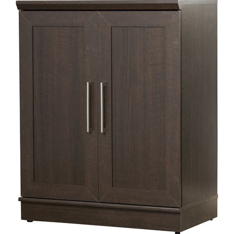 Entry Cabinet With Doors Sauder Homeplus 2 Door Storage Cabinet Reviews Wayfair