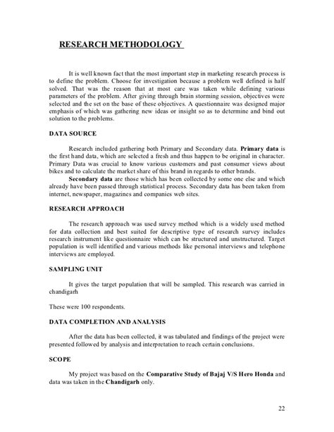 layout of report in research methodology project report of research methodology on comparative