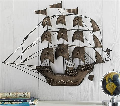 ship decor home metal pirate ship decor pottery barn