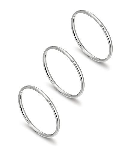 Simply Plain Knuckle Ring Set 3pcs Gold loyallook 3pcs 1mm stainless steel s plain band