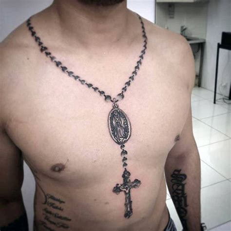 necklace tattoo designs for men 100 religious tattoos for sacred design ideas cross