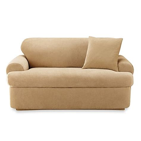 t cushion sofa slipcover 2 piece sure fit 174 stretch pique 2 piece t cushion sofa slipcover