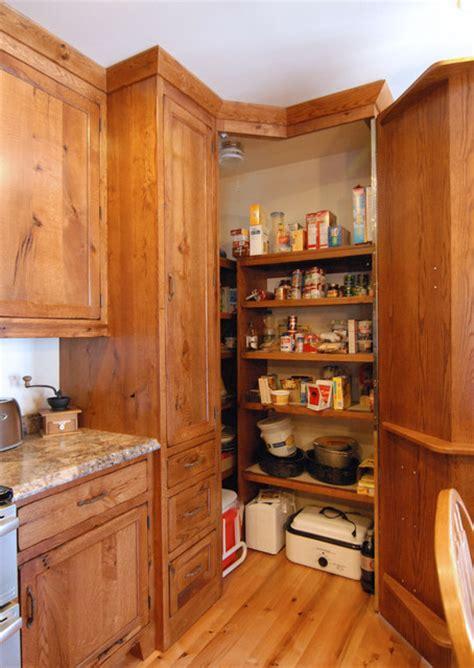 corner pantry traditional kitchen