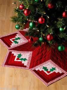 christmas tree skirt log cabin quilts 7 methods 30 design