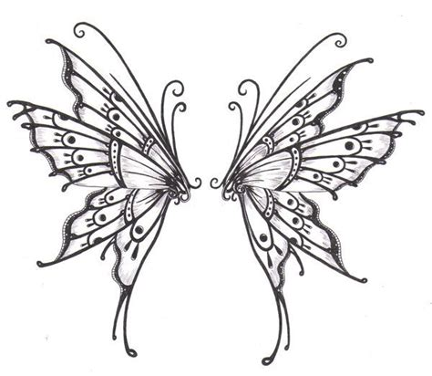 free butterfly tattoo designs to print wings postcard henna butterfly wings and