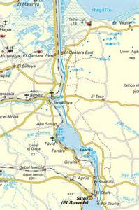 Suez Canal In World Map by Suez Canal Map 1 Mapsof Net