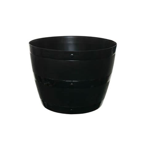 black plastic barrel planter unique home living