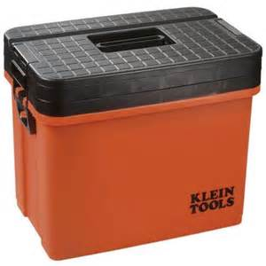 toolbox home depot klein tools hi viz sit stand 3 tier tool box discontinued