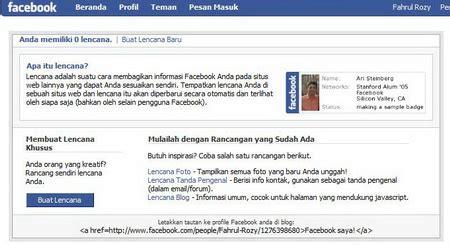membuat virus facebook tips membuat profil facebook musik is my life