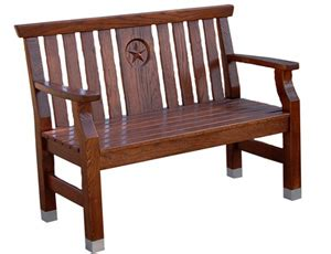 bench capital tci furniture chairs seating capital bench with star