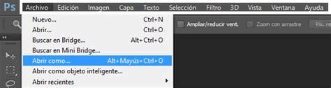 barra de herramientas superior photoshop adobe photoshop generalidades