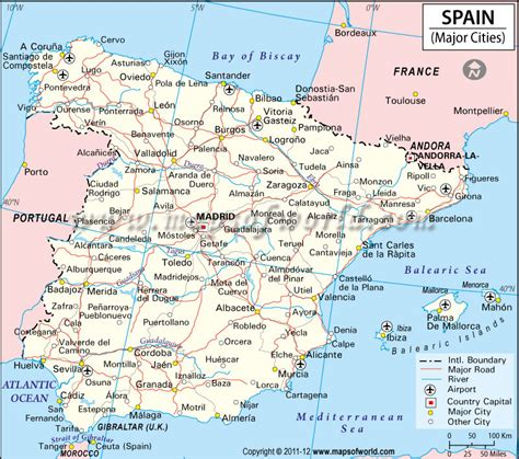 southern spain map image result for http www mapsofworld spain