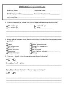 employee exit template word sle employee exit form 9 exles in word pdf