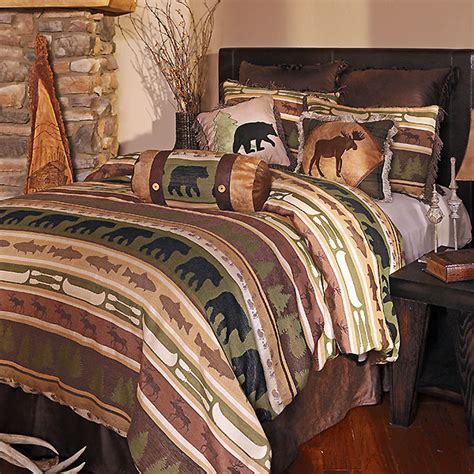 cabin bedding trout lake comforter sets cabin place