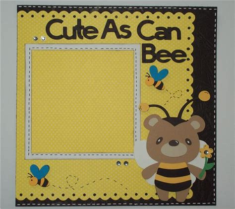 scrapbook layout ideas using cricut project center 8x8 layout cute as can bee 8x8