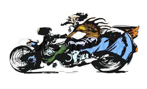 Motorrad Bilder Zeichentrick by Motorcycle Rider Character Illustration Stock