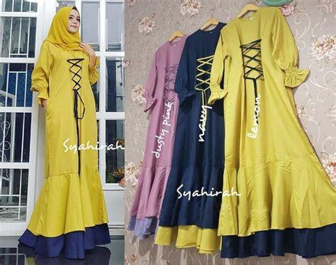 Baju Maxi Jumbo Jazze gamis remaja syahira katun platinum baju muslim modern
