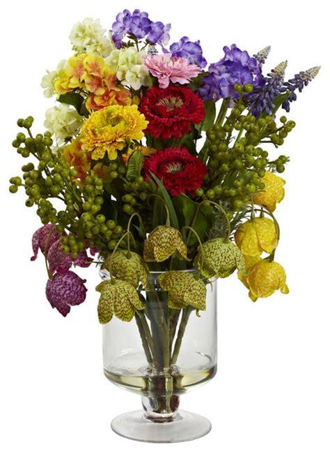 artificial floral arrangements spring floral arrangement assorted traditional