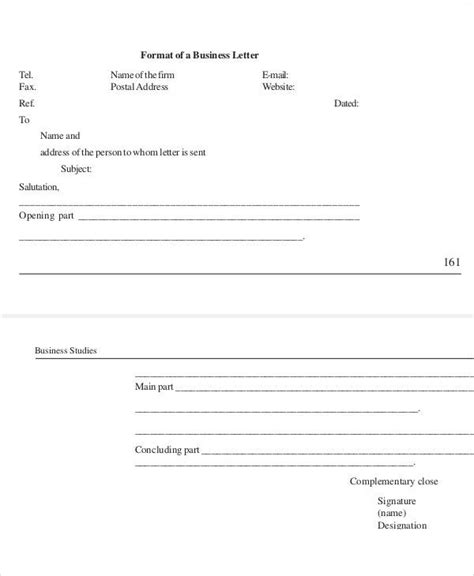 business letters correspondence 37 sle business letters in pdf